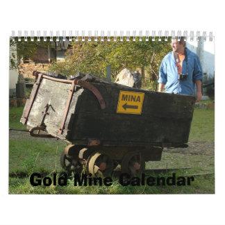 Gold Mine - Mina de Ouro, Minas Gerais, Brazil Calendar