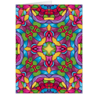 Gold Miner Kaleidoscope   Giant Greeting Cards