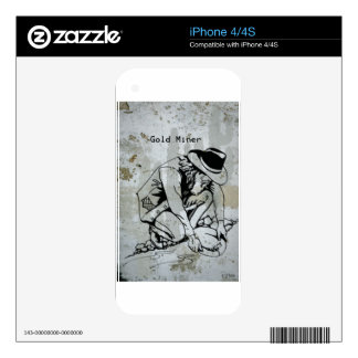 Gold Miner Mining Prospector Collector iPhone 4S Decals