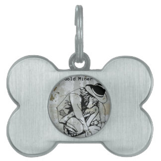 Gold Miner Mining Prospector Collector Pet Tag