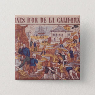 Gold Mines of California Pinback Button