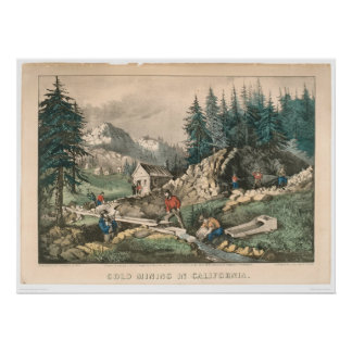 Gold Mining in California (0636A) Poster