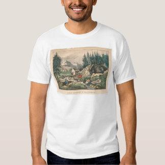 Gold Mining in California (0636A) T-shirt
