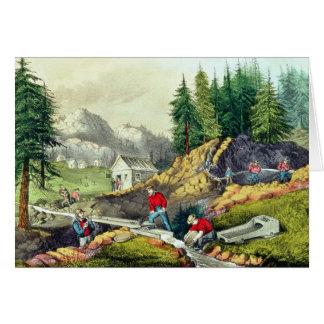 Gold Mining in California Card