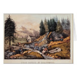 Gold Mining in California Greeting Card