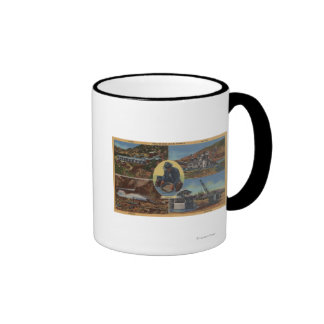 Gold Mining in California - Quarz, Dredge Coffee Mug