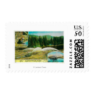 Gold Mining in California StateState Postage