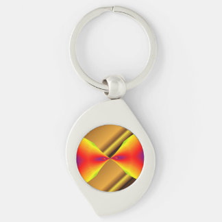Gold Mixing With Random Colors Key-chain Keychain