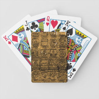 Gold mobile phone icons bicycle playing cards