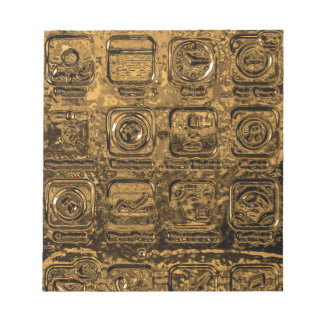 Gold mobile phone icons notepad