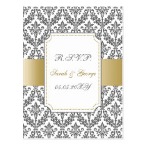 gold mod wedding rsvp cards