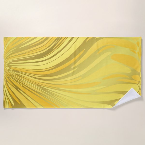gold modern beach towel