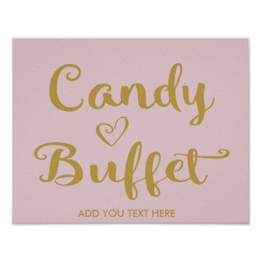 Wedding Themed Gold Modern Calligraphy Candy Buffet print