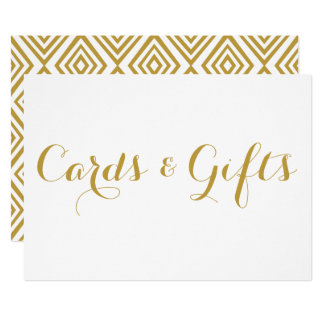 Gold Modern Calligraphy Cards & Gifts Wedding Sign