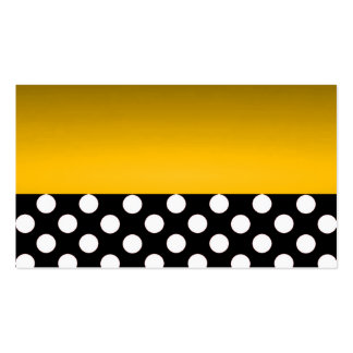 Gold Modern Elegant Polka Dots Save the Date Chic Double-Sided Standard Business Cards (Pack Of 100)