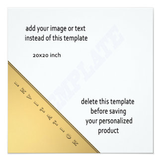 Gold modern Square cocktail party template