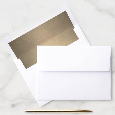 Gold Modern Texture Envelope Liner