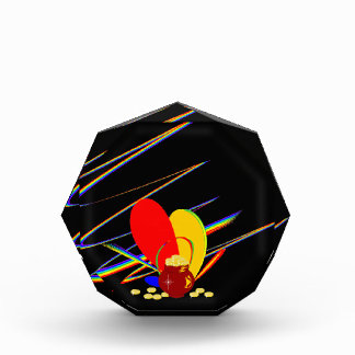 Gold money ang magic rainbow acrylic award