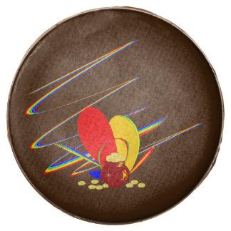 Gold money ang magic rainbow chocolate dipped oreo