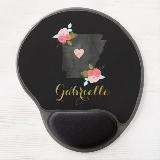Gold Monogram Arkansas State Moveable Heart City Gel Mouse Pad