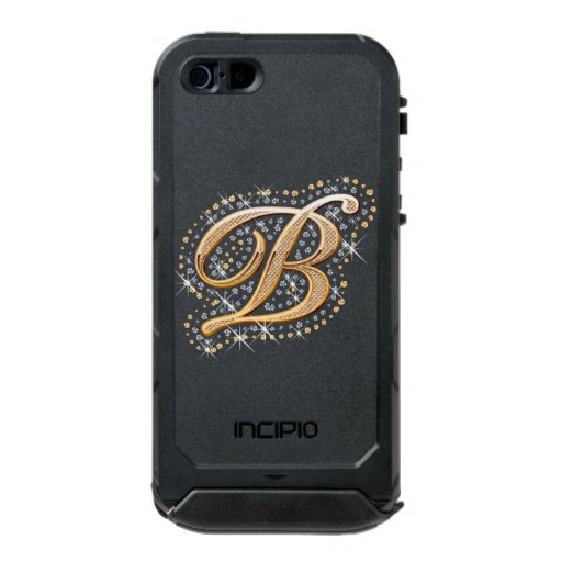 incipio iphone 5 case gold monogram b incipio atlas id iphone 5 5s zazzle 14340