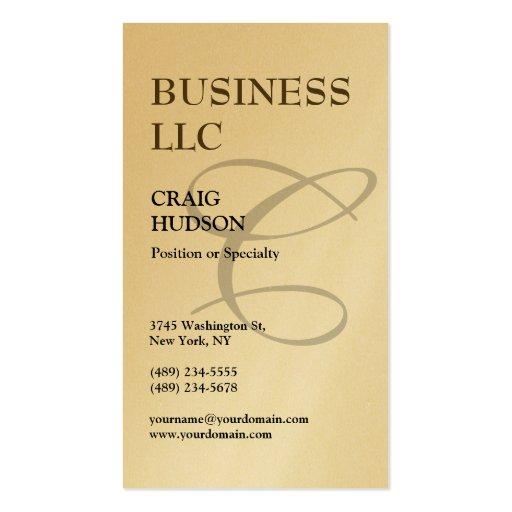 Gold Monogram Calligraphy Business Card Zazzle
