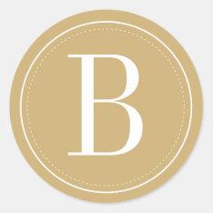 Gold Monogram Envelope Seal at Zazzle