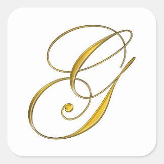 Gold Monogram G Envelope Seal Sticker