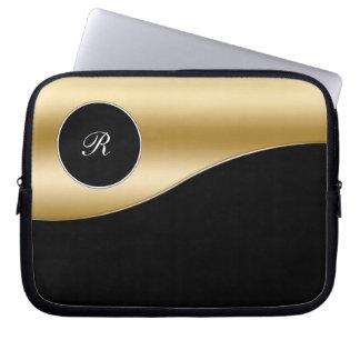 Gold Monogram Laptop Case