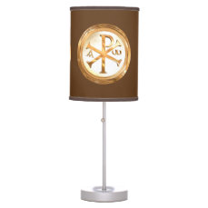 Gold Monogram of Christ Table Lamp