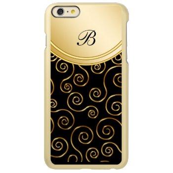 Gold Monogram Style Incipio Feather® Shine iPhone 6 Plus Case