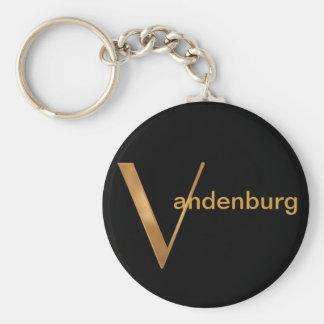 Gold Monogram [V] Keychain