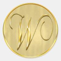 Gold Monogram W Seal