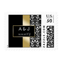 gold monogram wedding stamps