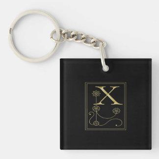 Gold Monogram X Federlyn Keychain