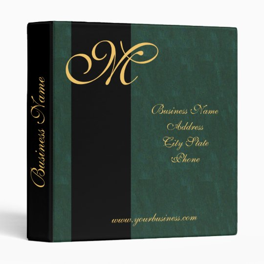 gold monogrammed avery business presention binder