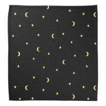 Gold Moon and Stars Bandana