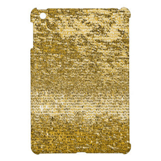 Gold mosaic pattern iPad mini cases