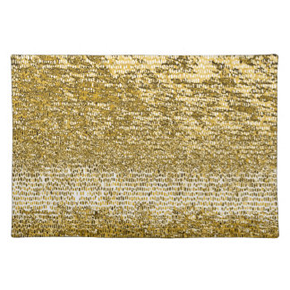 Gold mosaic pattern cloth place mat