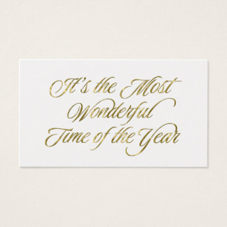 Gold Most Wonderful Time of the Year Gift Tags