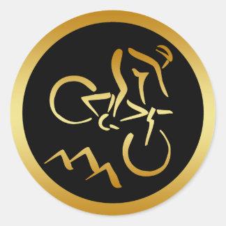 GOLD MOUNTAIN BIKER CLASSIC ROUND STICKER
