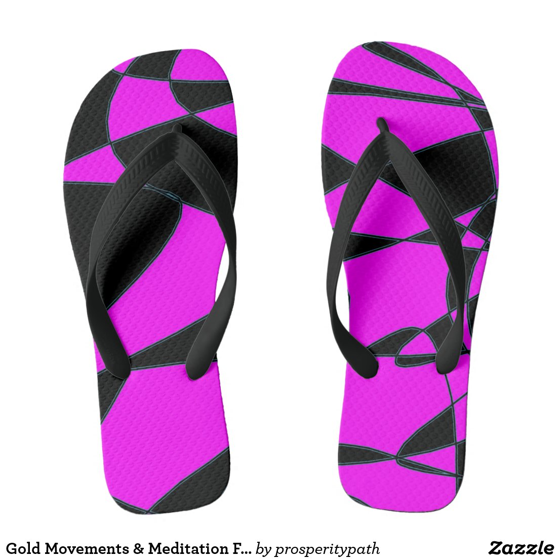 Gold Movements & Meditation Flip-Flops Flip Flops