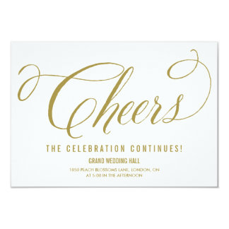 Gold Mr. & Mrs. Elegant Script Wedding Reception Card