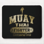 Gold Muay Thai Fighter Mouse Pads
