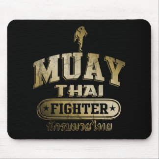 Gold Muay Thai Fighter Mouse Pad