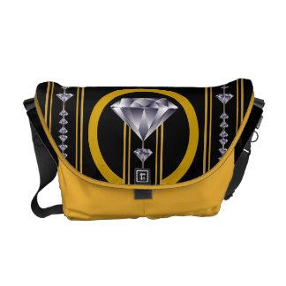 Gold Multi-Diamond Messenger Bag