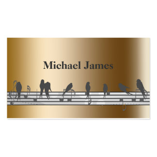 gold music business card