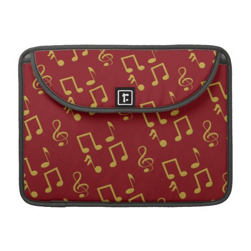 Gold Music Notes Macbook Pro 13 Inch Laptop Sleeve Sleeve For MacBooks