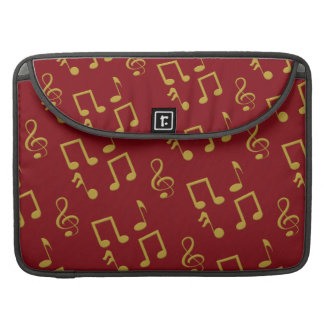 Gold Music Notes Macbook Pro 15 Inch Laptop Sleeve