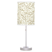 Gold Music Notes Pattern On Any Color Table Lamp